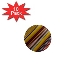 Colourful Lines 1  Mini Magnet (10 pack)