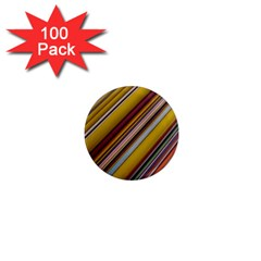 Colourful Lines 1  Mini Magnets (100 Pack)