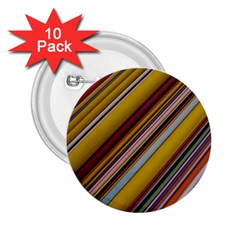 Colourful Lines 2.25  Buttons (10 pack)