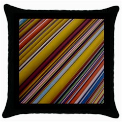 Colourful Lines Throw Pillow Case (Black)