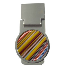 Colourful Lines Money Clips (round)