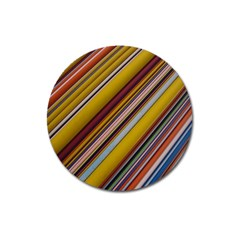 Colourful Lines Magnet 3  (round)
