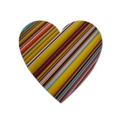 Colourful Lines Heart Magnet