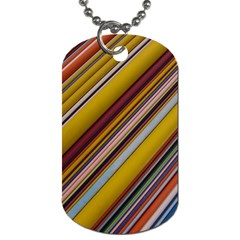 Colourful Lines Dog Tag (One Side)