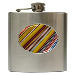 Colourful Lines Hip Flask (6 Oz)