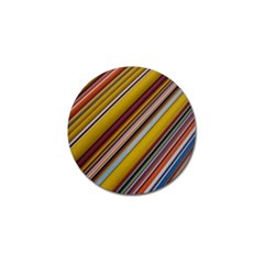 Colourful Lines Golf Ball Marker