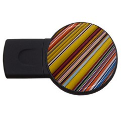 Colourful Lines USB Flash Drive Round (1 GB)