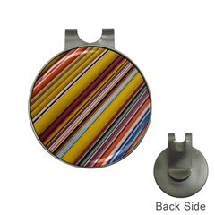 Colourful Lines Hat Clips with Golf Markers