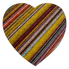 Colourful Lines Jigsaw Puzzle (heart)