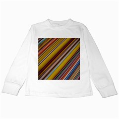 Colourful Lines Kids Long Sleeve T-Shirts
