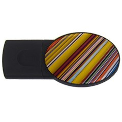 Colourful Lines USB Flash Drive Oval (4 GB)