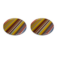 Colourful Lines Cufflinks (Oval)