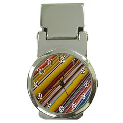 Colourful Lines Money Clip Watches