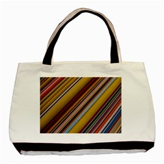 Colourful Lines Basic Tote Bag