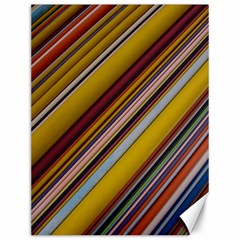 Colourful Lines Canvas 12  x 16
