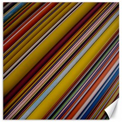 Colourful Lines Canvas 20  X 20