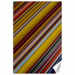 Colourful Lines Canvas 24  X 36
