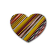 Colourful Lines Rubber Coaster (Heart)