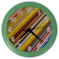 Colourful Lines Color Wall Clocks