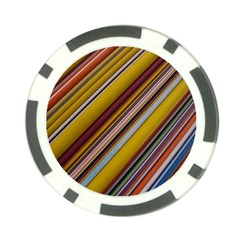 Colourful Lines Poker Chip Card Guard