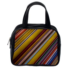 Colourful Lines Classic Handbags (One Side)