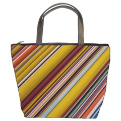 Colourful Lines Bucket Bags