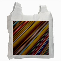 Colourful Lines Recycle Bag (one Side)