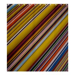 Colourful Lines Shower Curtain 66  X 72  (large)