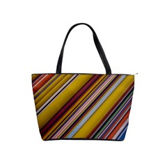 Colourful Lines Shoulder Handbags