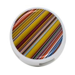 Colourful Lines 4-Port USB Hub (One Side)