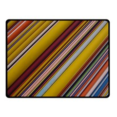Colourful Lines Fleece Blanket (small)