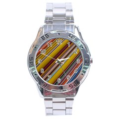 Colourful Lines Stainless Steel Analogue Watch