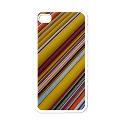 Colourful Lines Apple iPhone 4 Case (White)