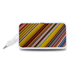 Colourful Lines Portable Speaker (White)