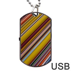 Colourful Lines Dog Tag USB Flash (One Side)