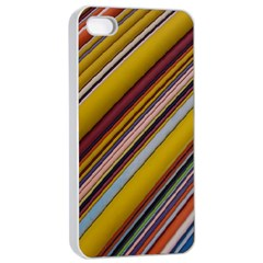 Colourful Lines Apple Iphone 4/4s Seamless Case (white)
