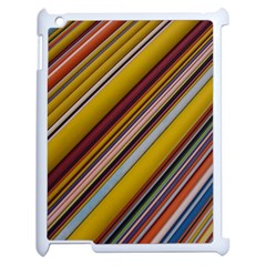 Colourful Lines Apple Ipad 2 Case (white)