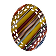 Colourful Lines Ornament (Oval Filigree)