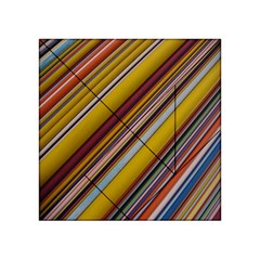 Colourful Lines Acrylic Tangram Puzzle (4  X 4 )