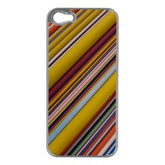 Colourful Lines Apple Iphone 5 Case (silver)