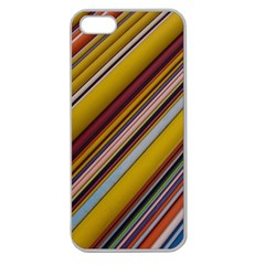 Colourful Lines Apple Seamless Iphone 5 Case (clear)