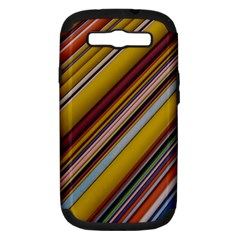 Colourful Lines Samsung Galaxy S Iii Hardshell Case (pc+silicone)
