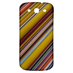 Colourful Lines Samsung Galaxy S3 S III Classic Hardshell Back Case
