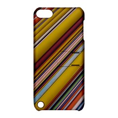 Colourful Lines Apple Ipod Touch 5 Hardshell Case With Stand