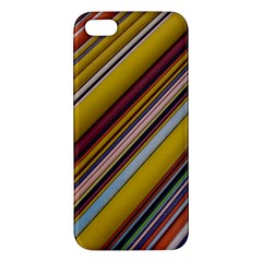 Colourful Lines Apple Iphone 5 Premium Hardshell Case