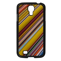 Colourful Lines Samsung Galaxy S4 I9500/ I9505 Case (Black)