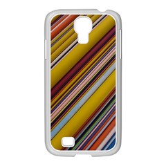 Colourful Lines Samsung Galaxy S4 I9500/ I9505 Case (white)