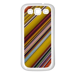 Colourful Lines Samsung Galaxy S3 Back Case (White)