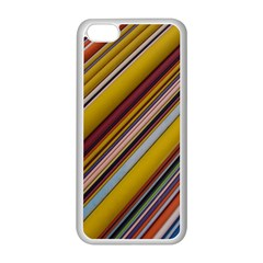 Colourful Lines Apple iPhone 5C Seamless Case (White)