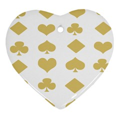 Card Symbols Heart Ornament (Two Sides)